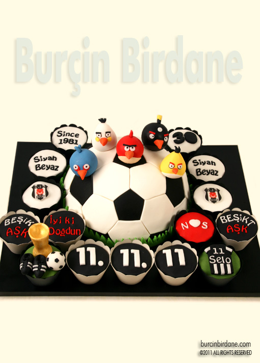 Angry Birds Futbol Pasta Cupcake