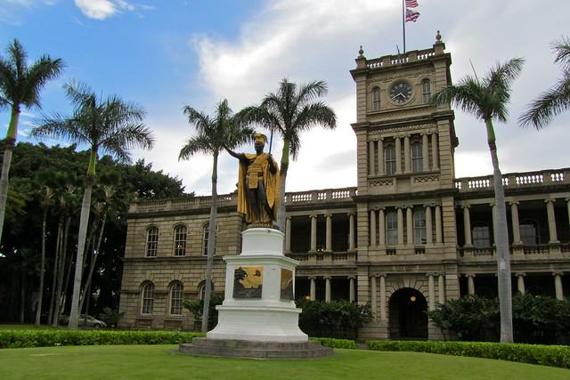 King Kamehameha statue in Honolulu, Hawaii