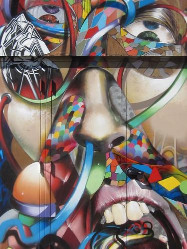Street Art: Male Portrait Mural