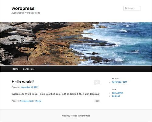 Giao diện mặc đinh của WordPress
