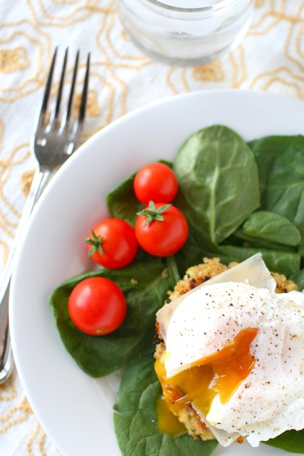 Quinoa Cakes With Poached Eggs Everyday Annie