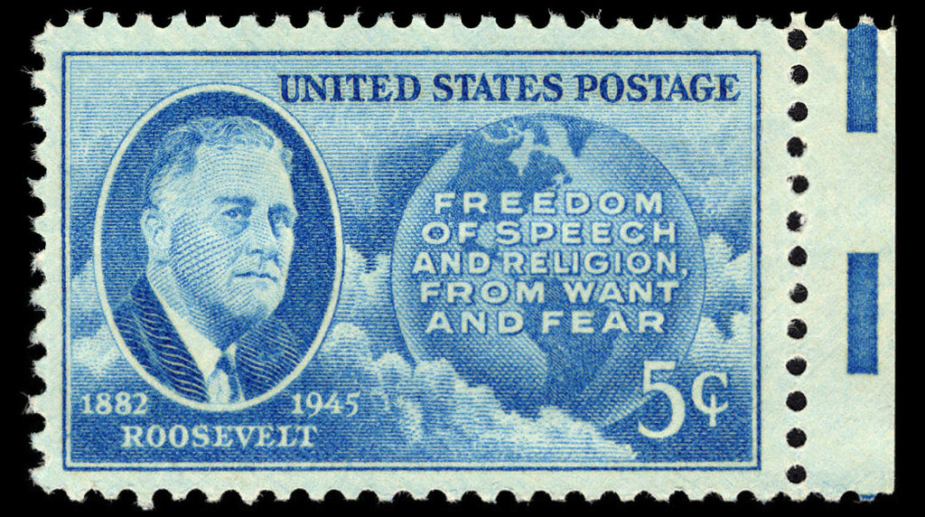 1946 01 30 Four Freedoms Stamp