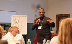 Jarvis Ward of Mission America speaking at Movement Day HIV Pandemic Track