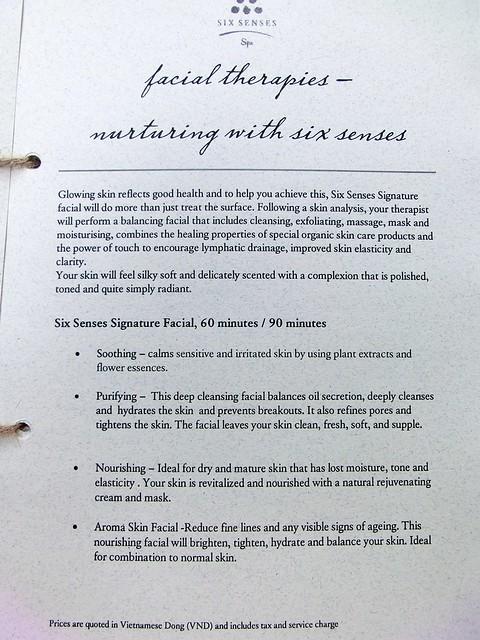 Six Senses Spa Menu & Price List - Six Senses Ninh Van Bay 11