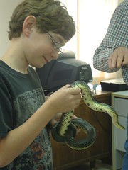 Sam Dietz with Snake