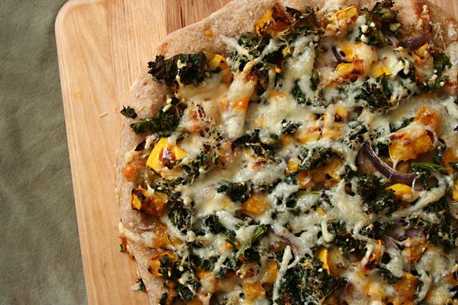 squash kale pizza 4