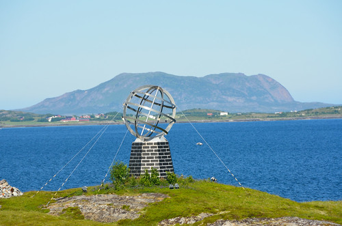 Arctic circle globe on the island of Vikingen