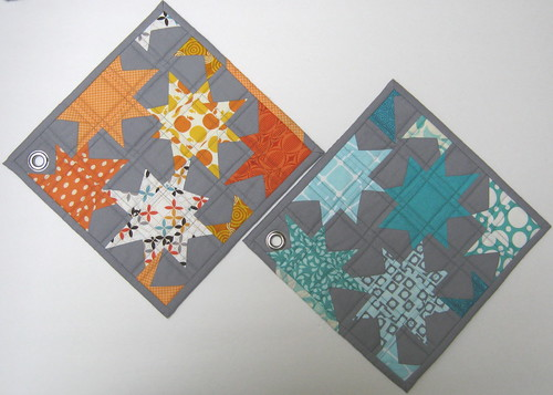 potholders from eryn - received!