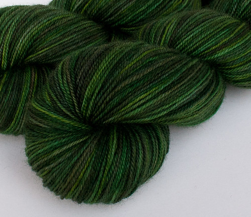 O Christmas Tree: *North Fork* on Willow BFL/nylon sock