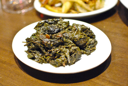 Long cooked greens