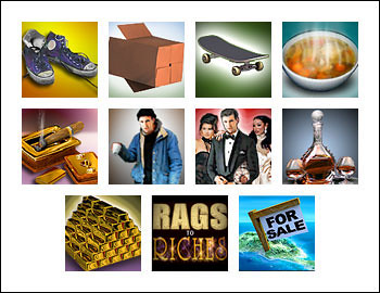 free rags-to-riches-20-lines slot game symbols