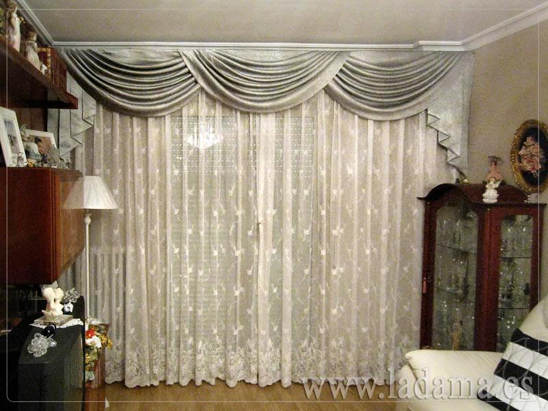 Fotograf as de volantes y bandos la dama decoraci n - Volantes de cortinas ...