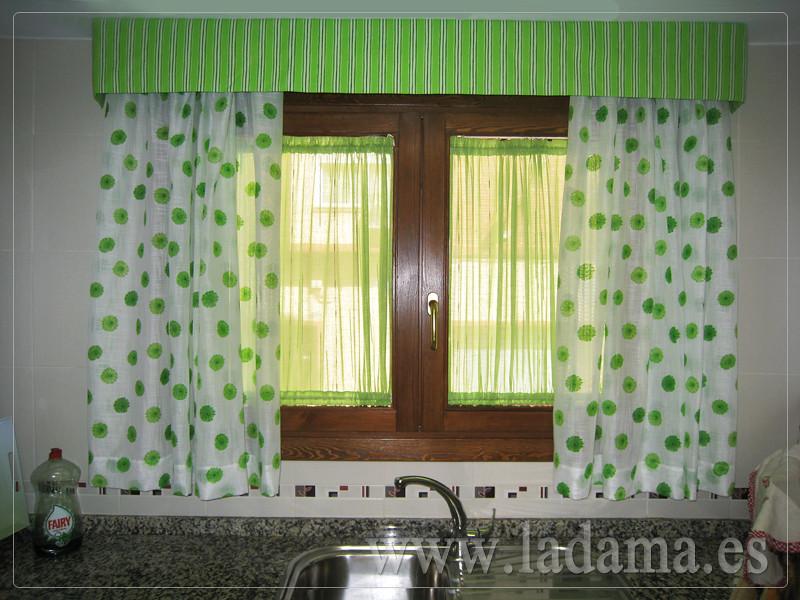 Fotograf as de cortinas de cocina la dama decoraci n - Cortinas modernas para cocinas ...