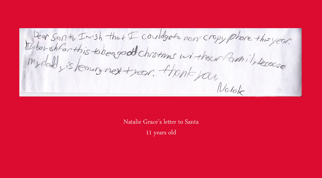 Natalie's letters to santa