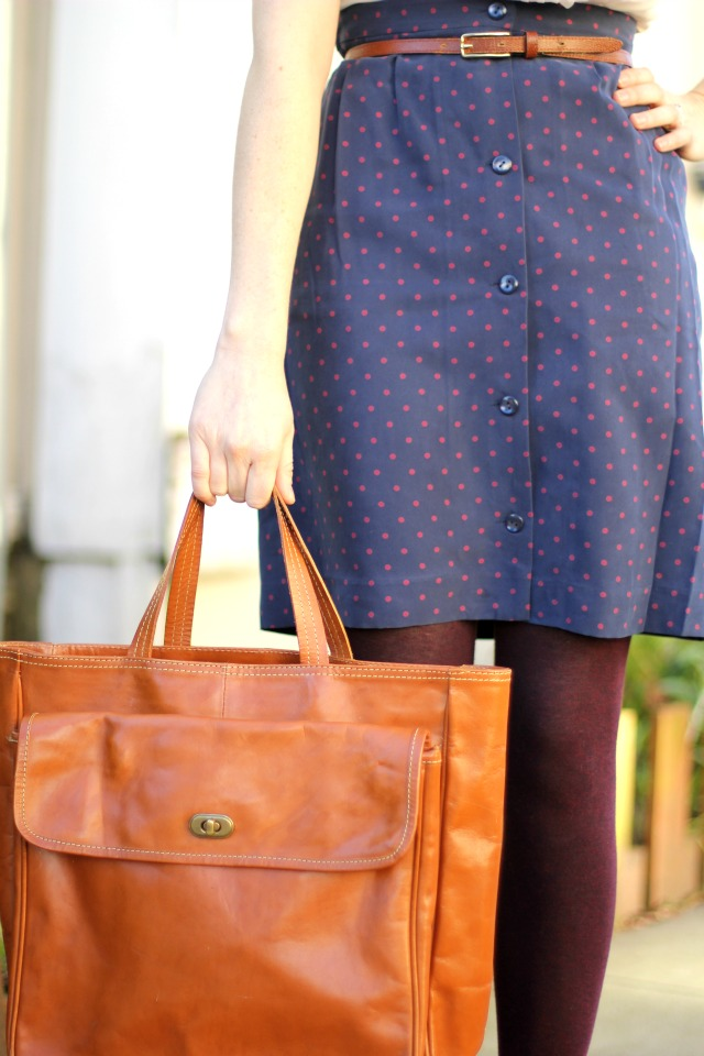 skirt and bag