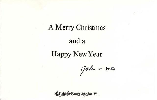 John Lennon Christmas card - inside right
