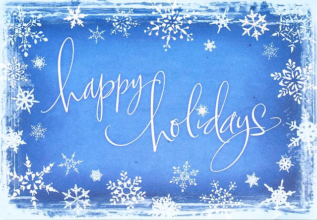 Wishing you a wonderful holiday season