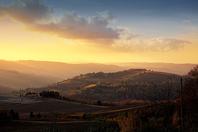 Travel Dreams: Tramonto in Chianti Italy