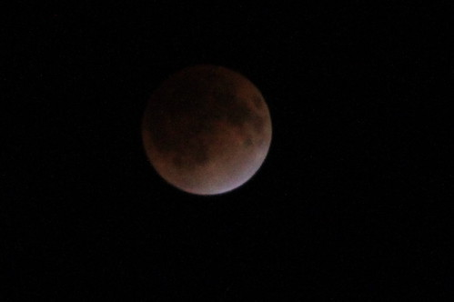 皆既月食 total eclipse of the moon