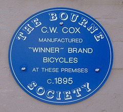 Photo of C. W. Cox blue plaque