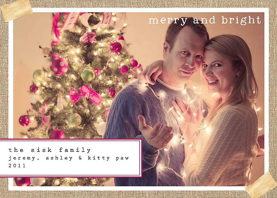 Merry and Bright: Christmas Card 2011