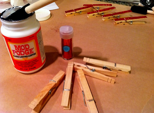 Supplies for Glitter Clothespins