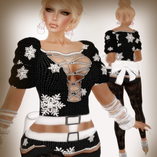 A&A Fashion Snowflake Sweater Black
