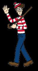 Waldo waving