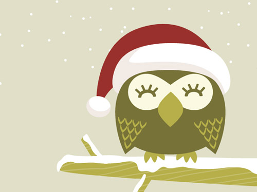 My Owl Barn: Christmas Owl Desktop Wallpaper