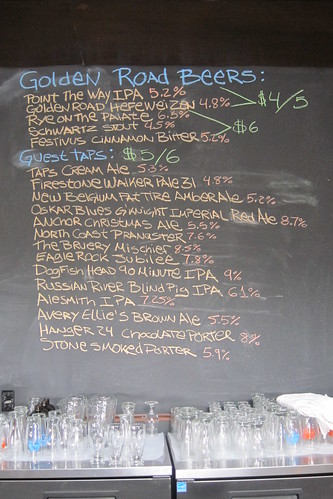 Golden Road Brewing: Beer List
