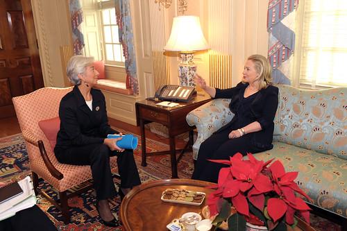 Hillary Clinton And Christine Laguarde