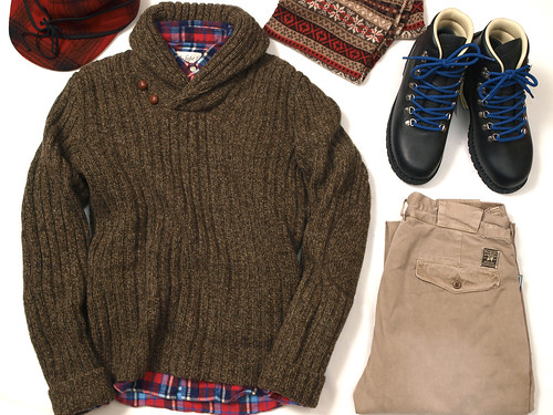 RRL / Wool Shawl-Collar Sweater