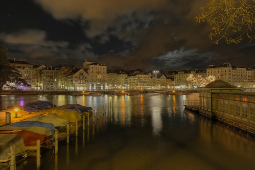 Limmatquai at Night / HDR Version