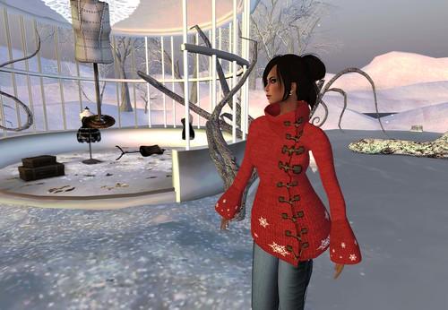 Pea Coat Winter - Red (Hunt Depraved) by Cherokeeh Asteria