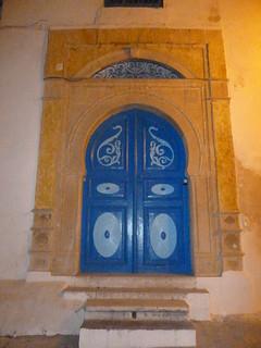 Porte traditionnelle à Sidi Bou Said
