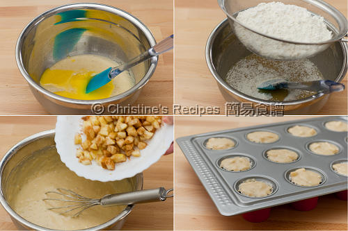 Banana Apple Muffins Procedures