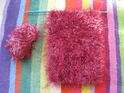 Pink fluff scarf