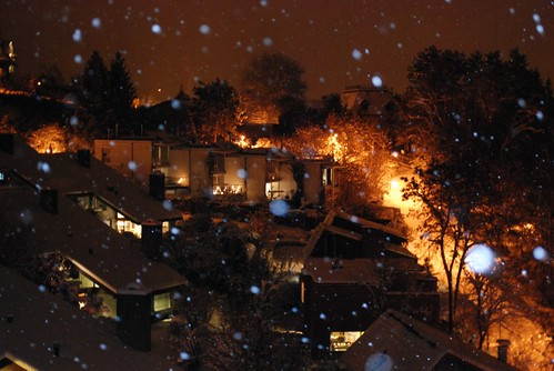neige sur notre village