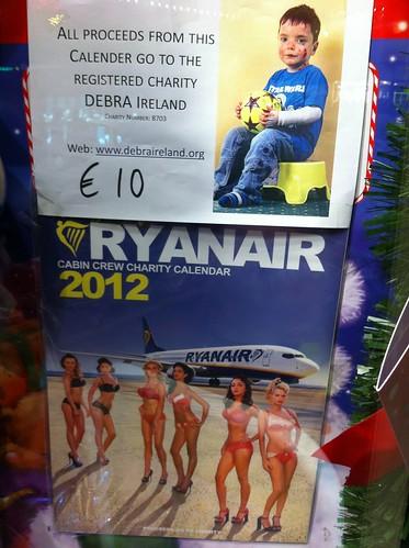 Ryanair 2012 calendar.