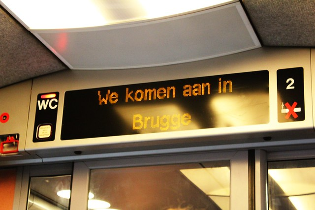 two trains and 3.5 hours - hello brugge!