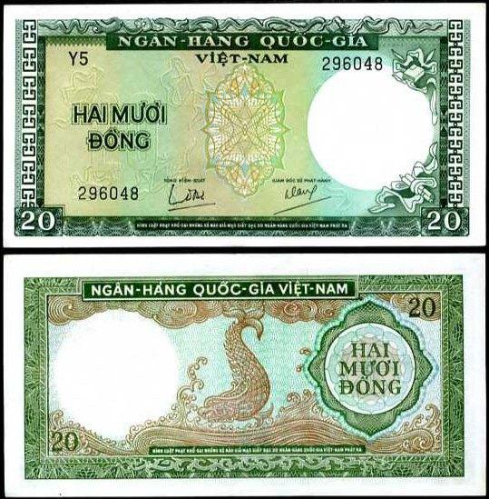 20 Dong Južný Vietnam 1964, Pick 16