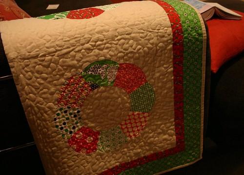 wreath baby quilt