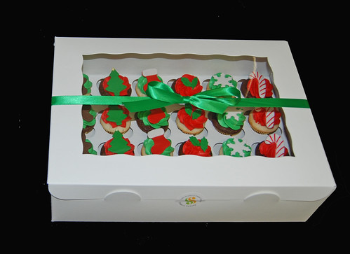 mini cupcake christmas gift box