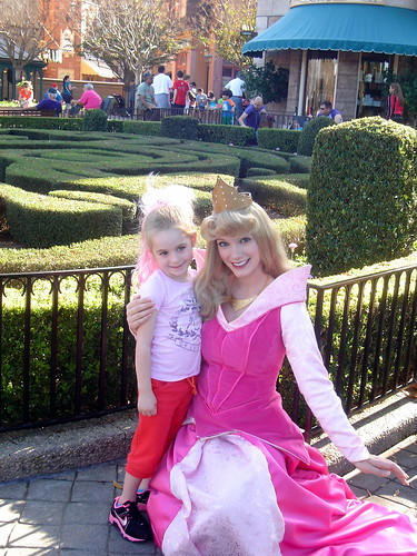 With Princess Aurora