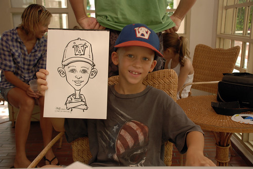 caricature live sketching for children birthday party 08 Oct 2011 - 3