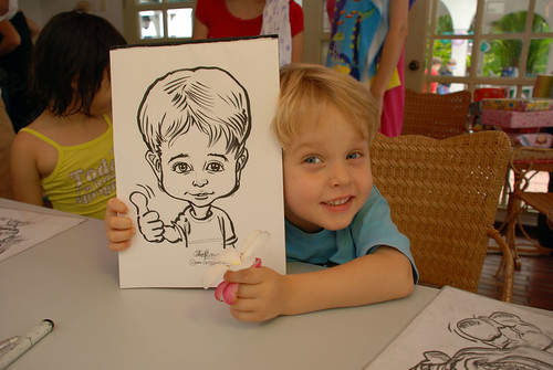 caricature live sketching for children birthday party 08 Oct 2011 - 10