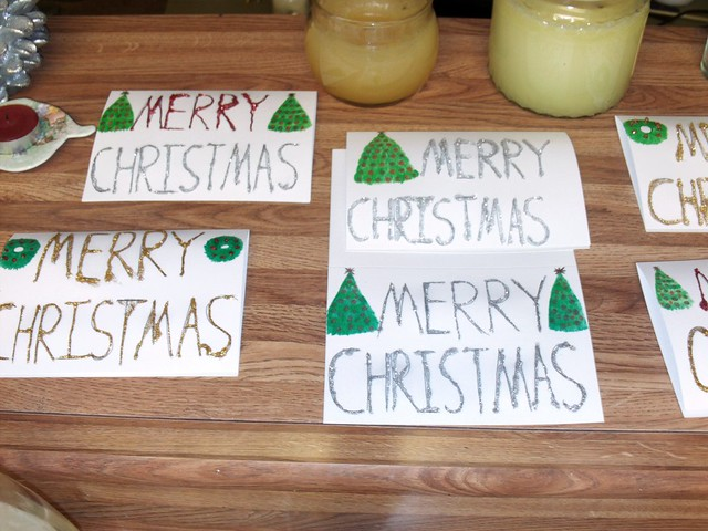 Making Sparkly Christmas Cards