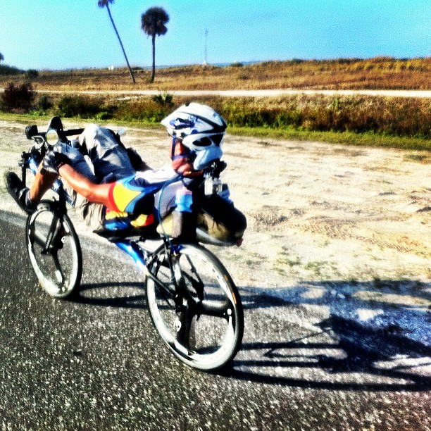 Sure, recumbents are funny. Until you get dropped by one. #rapha500