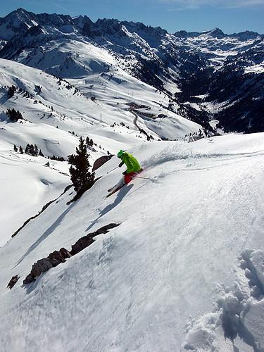 Esquiador en Baqueira