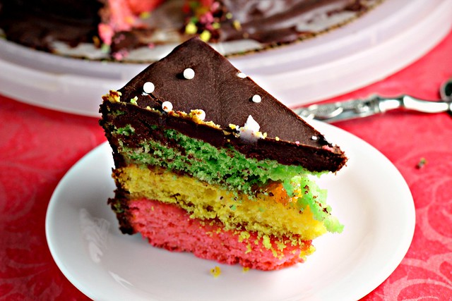 Italian Rainbow Cookie Cake Joanne Eats Well With Others